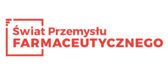 logo: PATRON MEDIALNY: <br><br> Świat Przemysłu Farmaceutycznego